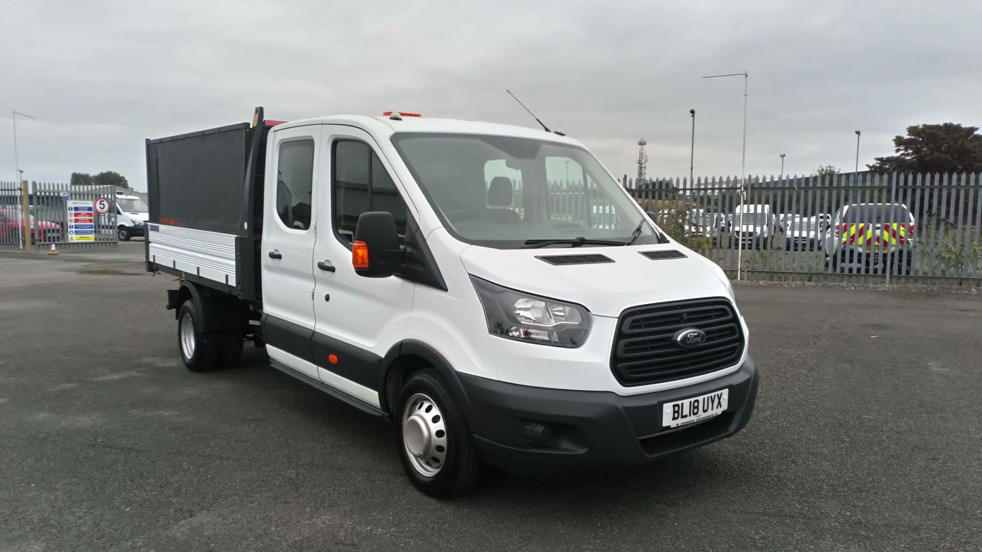 2018 Ford Transit 2.0 Tdci 130Ps H2 Double Cab Tipper (BL18UYX) Image 1
