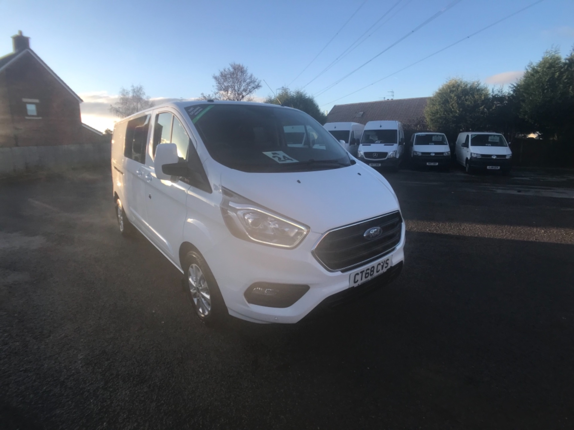 2018 Ford Transit Custom 2.0 Ecoblue 130Ps Low Roof D/Cab Limited Van Auto (CT68CVS)