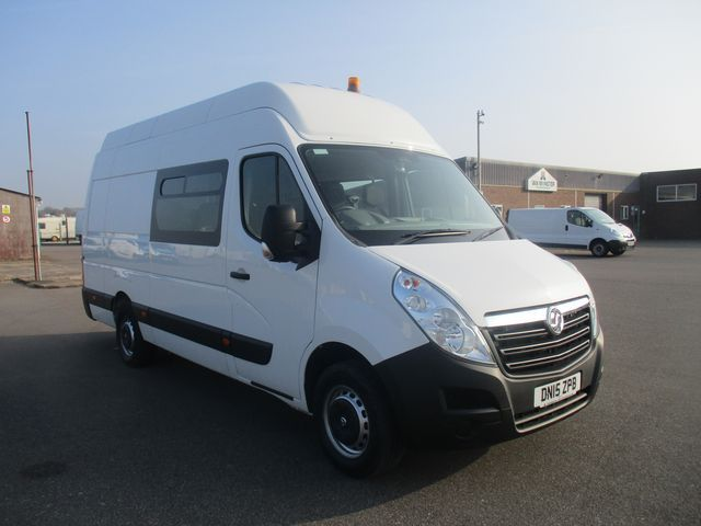 2015 Vauxhall Movano 35 L3 H3 125PS EURO 5 WELFARE CREW VAN (DN15ZPB)