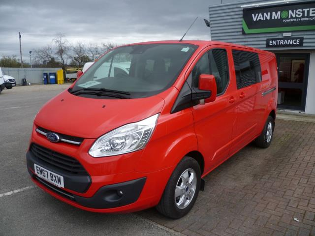 2017 Ford Transit Custom 2.0 TDCi 130ps Low Roof D/Cab Limited Van Auto EURO 6 (EN67BXM) Image 2