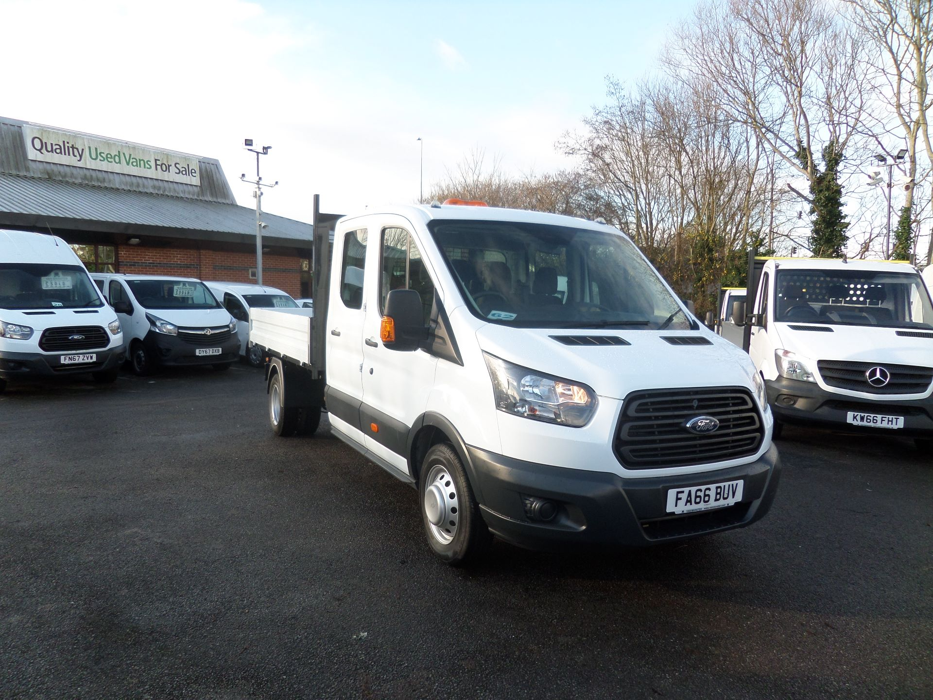 2017 Ford Transit 2.0 Tdci 130Ps Double Cab Tipper Euro 6 (FA66BUV)