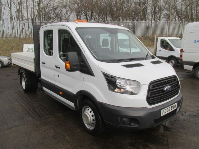 2017 Ford Transit 350 L3 2.2 Tdci 130PS D/Cab Tipper One Stop (FD66BVH)