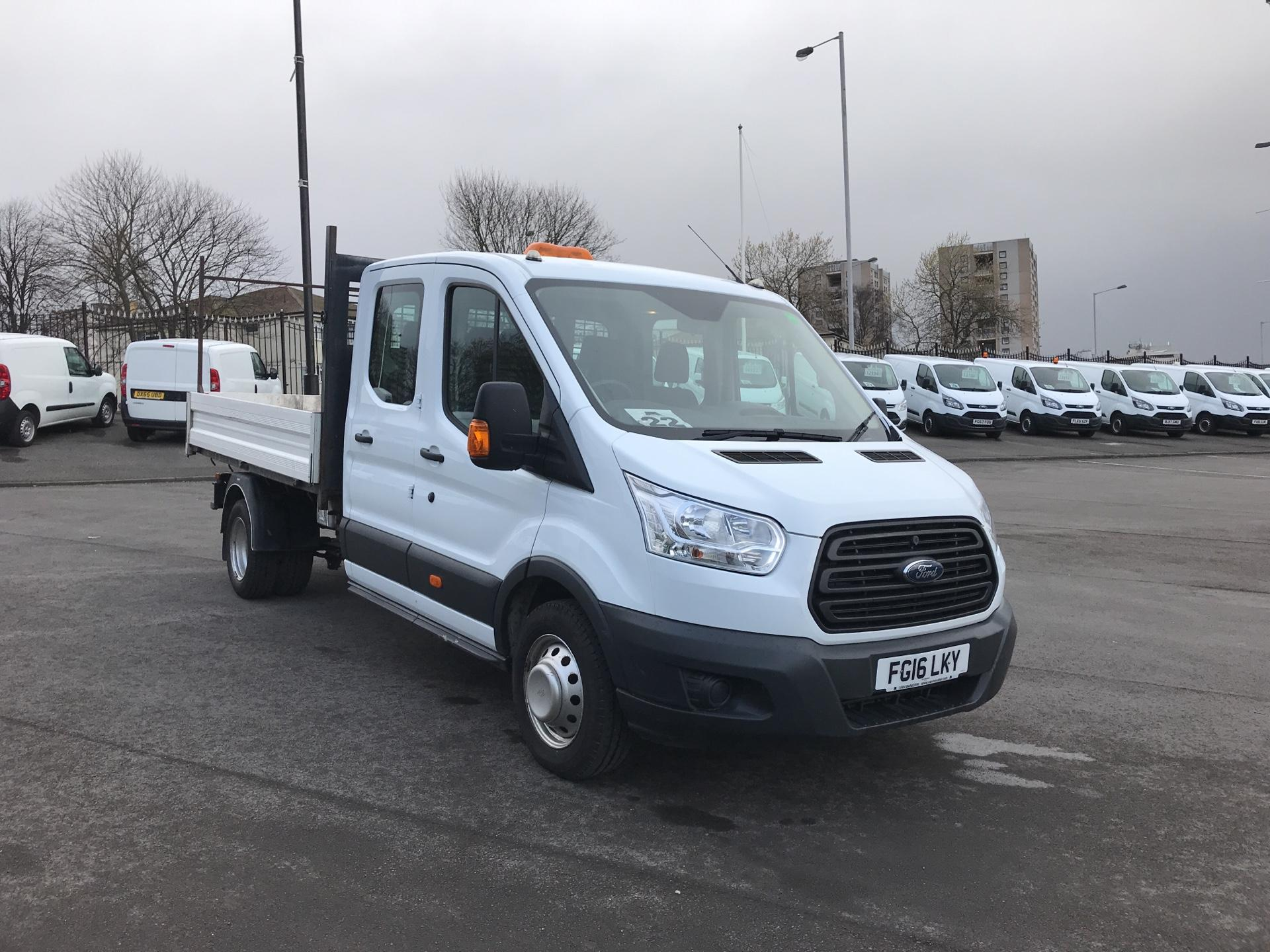 2016 Ford Transit 2.2 TDCI LWB DOUBLE CAB TIPPER EURO 5  (FG16LKY) Image 1