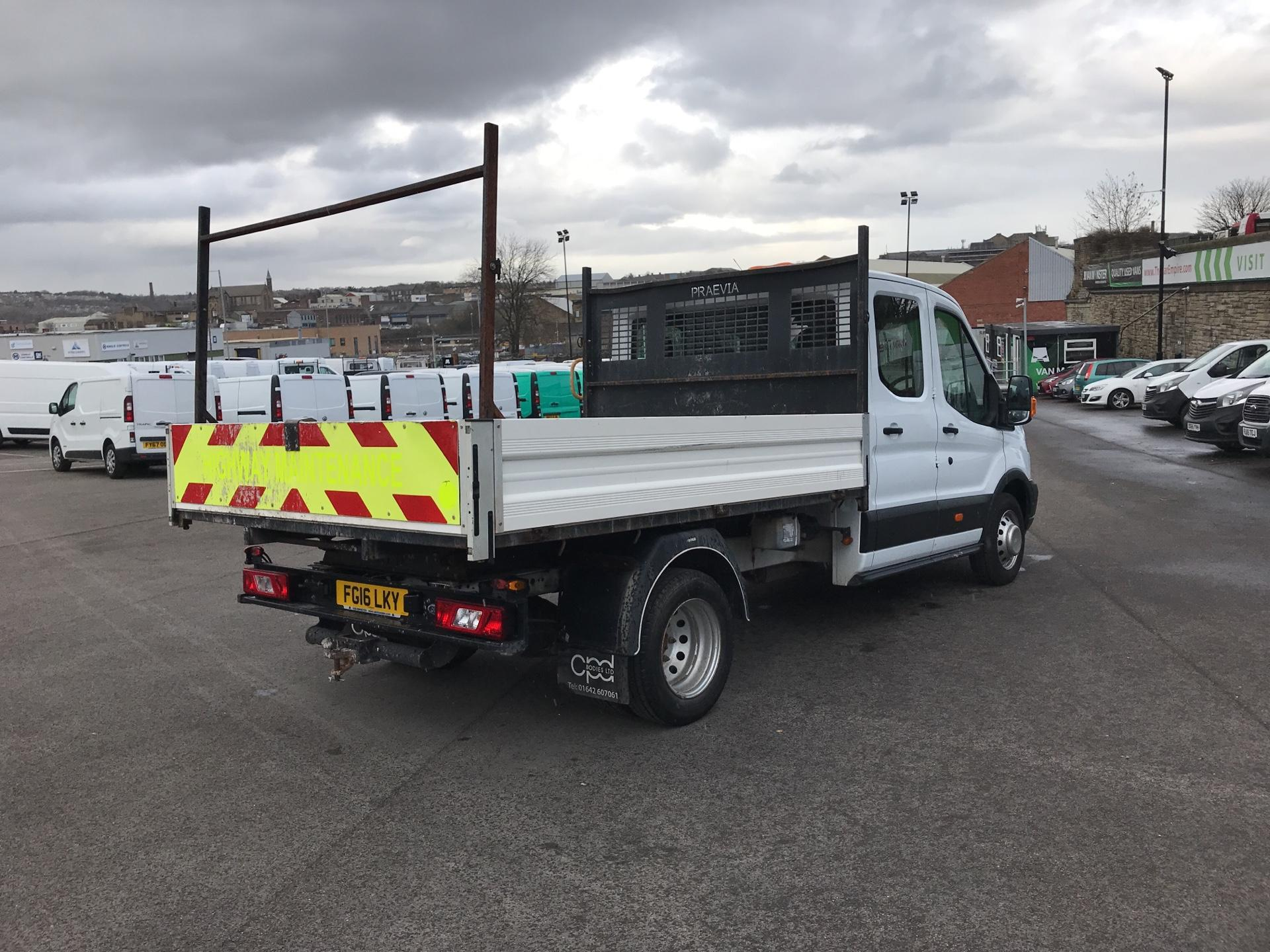 2016 Ford Transit 2.2 TDCI LWB DOUBLE CAB TIPPER EURO 5  (FG16LKY) Image 3