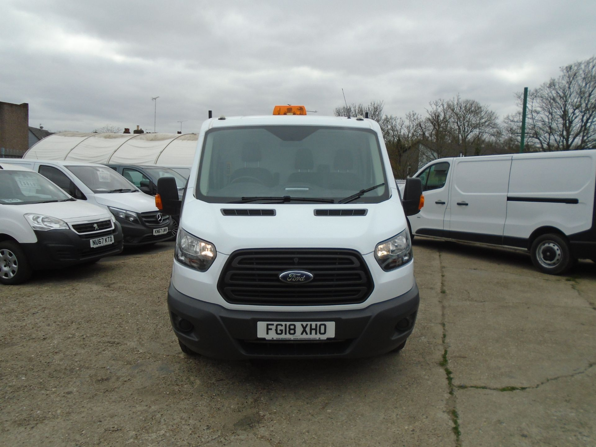 2018 Ford Transit 2.0 Tdci 130Ps Double Cab *NO REAR SEATS* (FG18XHO) Image 2