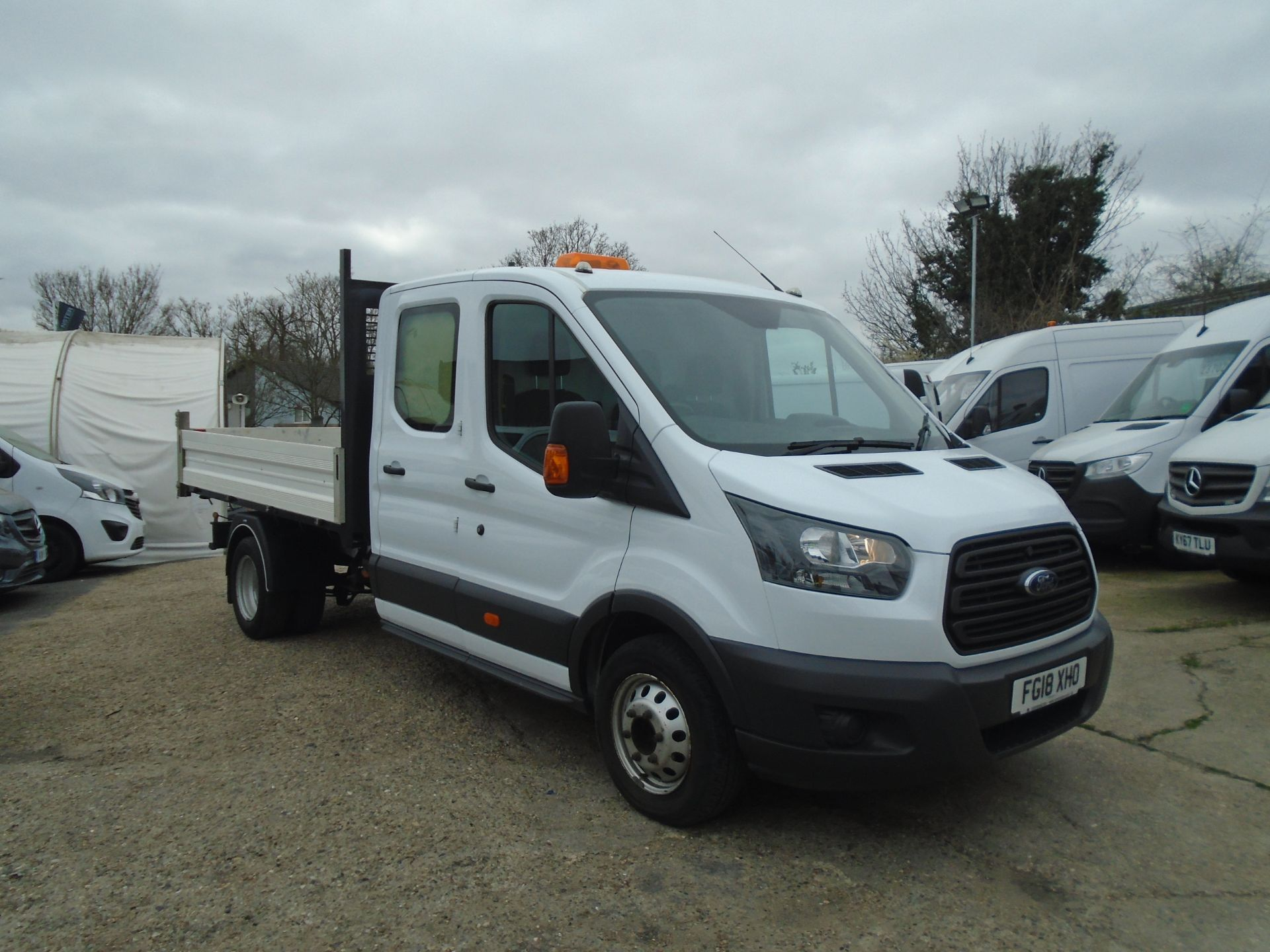 2018 Ford Transit 2.0 Tdci 130Ps Double Cab *NO REAR SEATS* (FG18XHO)