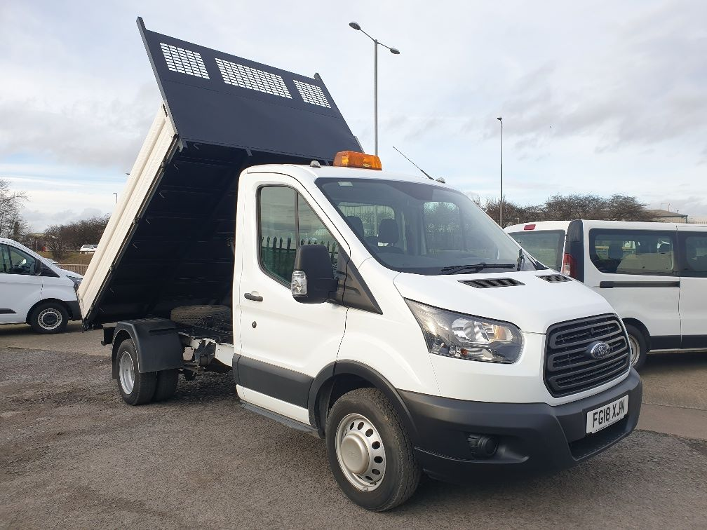 2018 Ford Transit 350 L2 SINGLE CAB TIPPER 130PS EURO 6 (FG18XJN)