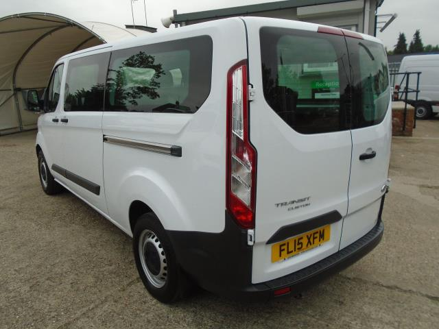 2015 Ford Transit Custom 2.2 Tdci 125Ps Low Roof Kombi Van 8 Seater With Air-Con Heated Seats (FL15XFM) Image 4
