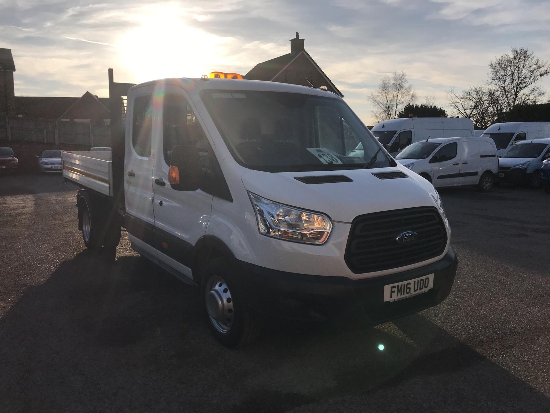 2016 Ford Transit 350 L3 DOUBLE CAB TIPPER 125PS EURO 5 *NO REAR SEATS* (FM16UDO)