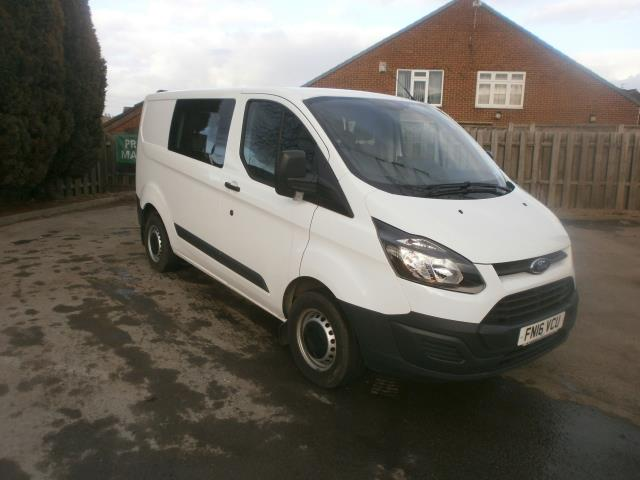 2016 Ford Transit Custom L1 2.2 Tdci 100Ps SWB  Low Roof D/Cab Van (FN16VCU)
