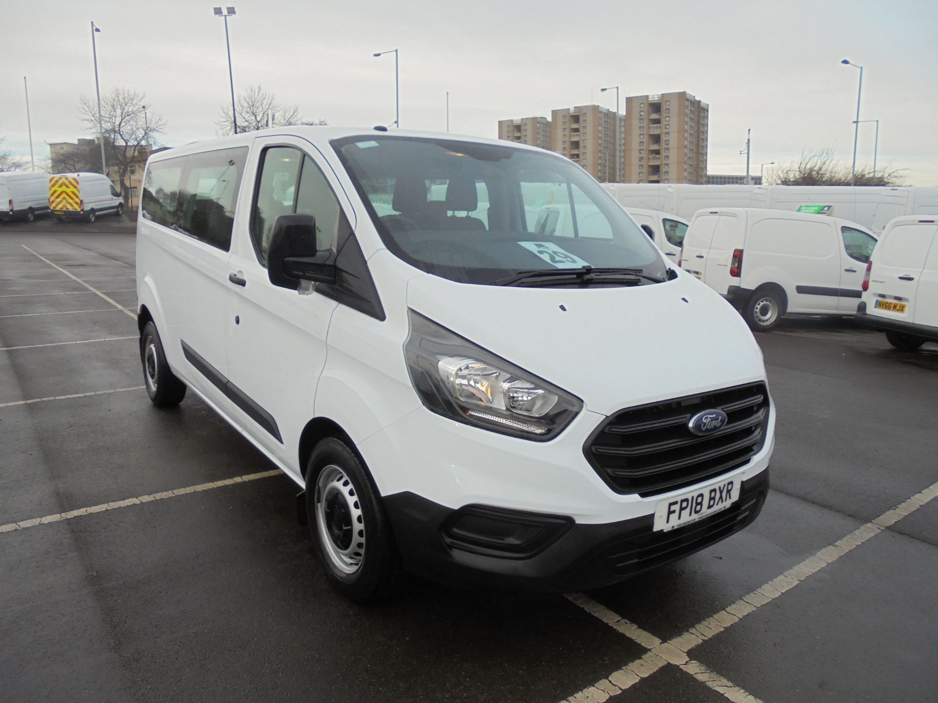 2018 Ford Transit Custom 320 2.0 Tdci 130Ps L2 H1 Low Roof Base 9 Seater Van  (FP18BXR) Image 1