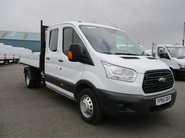 2015 Ford Transit T350 LWB TIPPER TDCI 125PS D/CAB.  3 SEATS WITH SECURE TOOL STORE (FP65DGV)