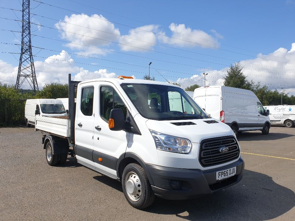 2015 Ford Transit 350 L3 DOUBLE CAB TIPPER 125PS EURO 5 *VALUE RANGE VEHICLE CONDITION REFLECTED IN PRICE*  (FP65DJX)