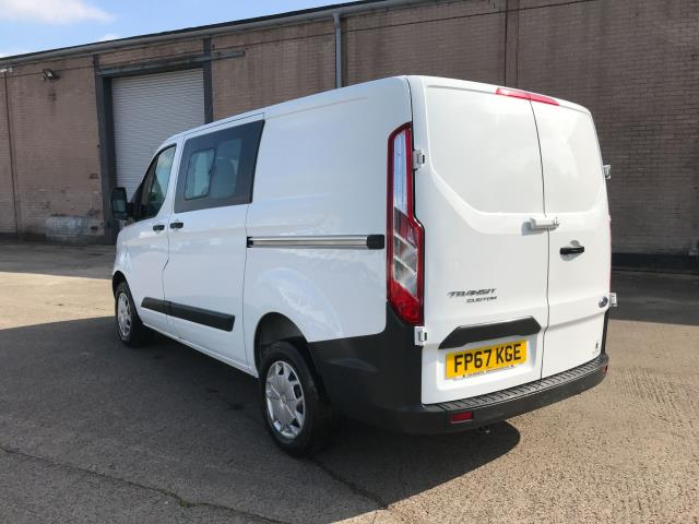 2017 Ford Transit Custom  290 L1 2.0TDCI 105PS LOW ROOF DOUBLE CAB EURO 6 (FP67KGE) Image 4
