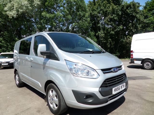 2016 Ford Transit Custom 290 L1 DIESEL FWD 2.0 Tdci 130Ps Low Roof D/Cab Limited Van EURO 5 (HK66WTW)