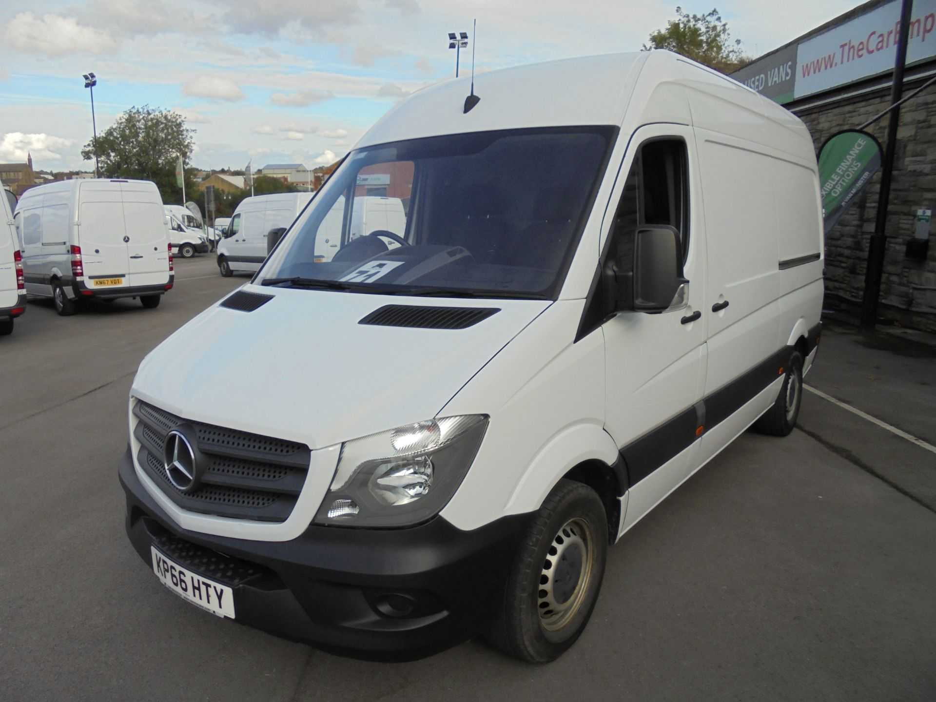 2016 Mercedes-Benz Sprinter 3.5T High Roof Van MWB (KP66HTY) Thumbnail 3