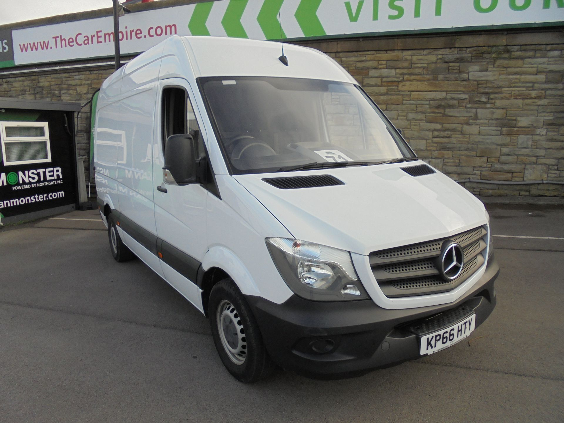 2016 Mercedes-Benz Sprinter 3.5T High Roof Van MWB (KP66HTY) Image 1