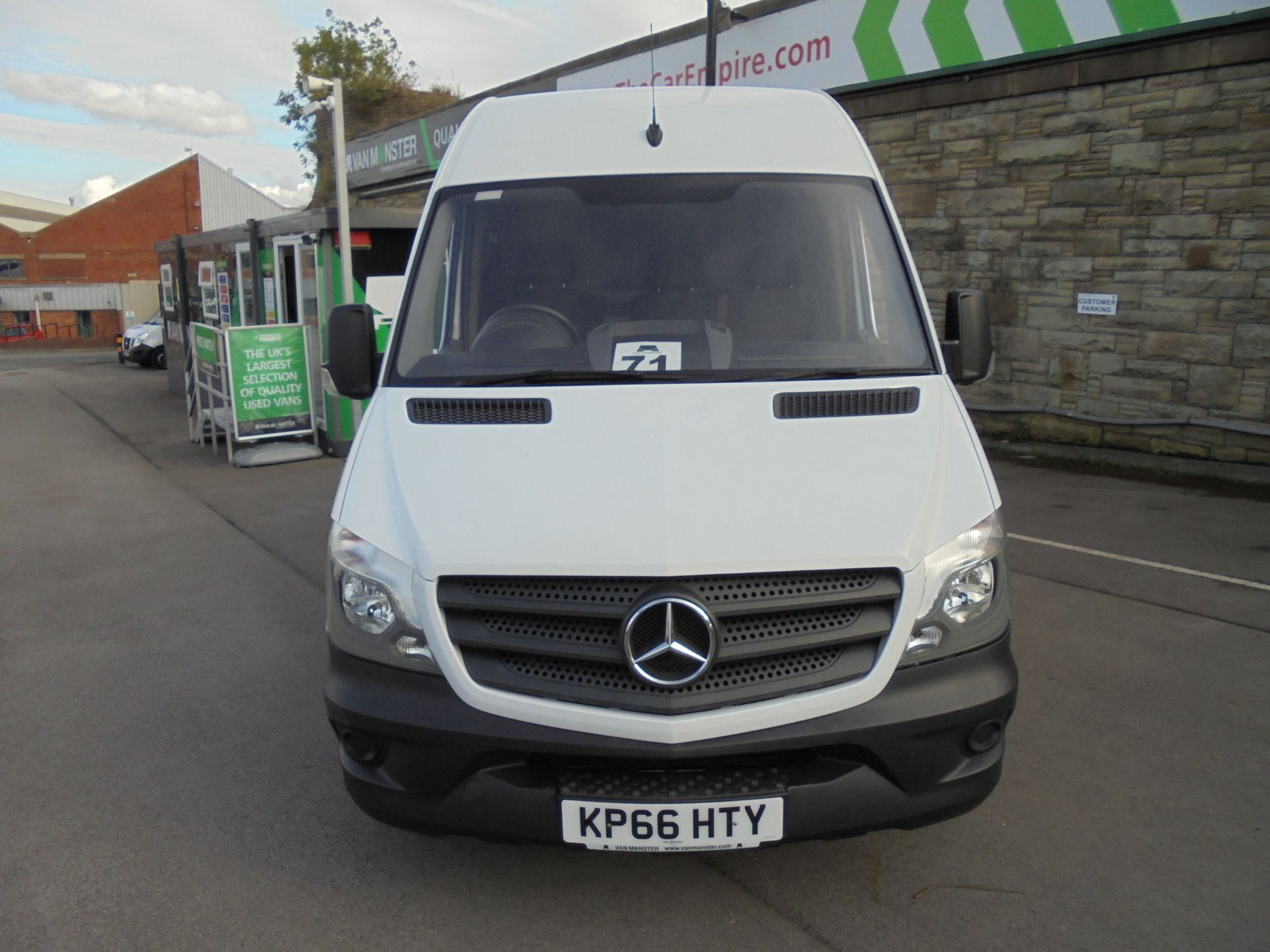 2016 Mercedes-Benz Sprinter 3.5T High Roof Van MWB (KP66HTY) Thumbnail 2