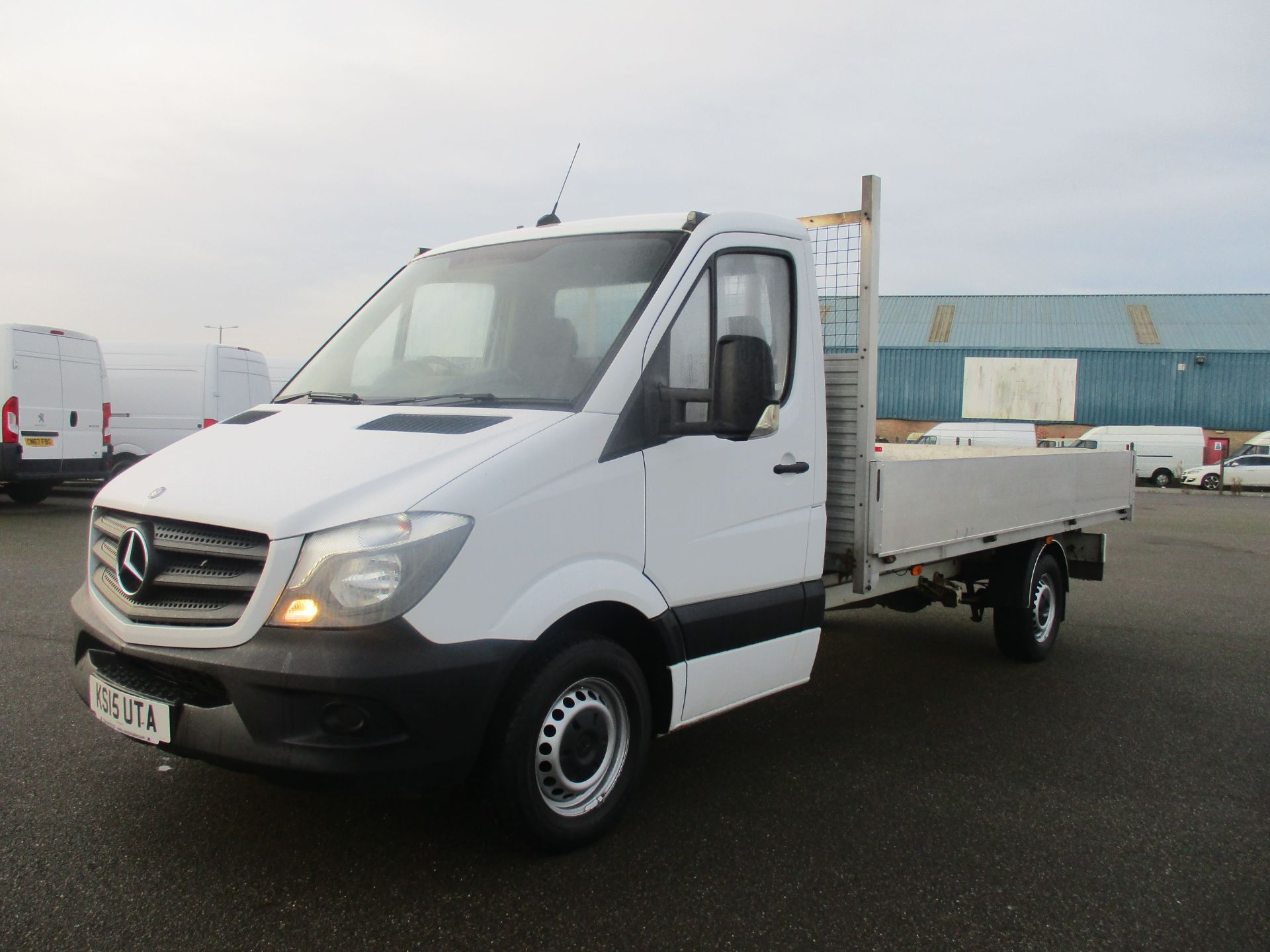 2015 Mercedes-Benz Sprinter 313 LWB DROP SIDE EURO 5 (KS15UTA) Thumbnail 3