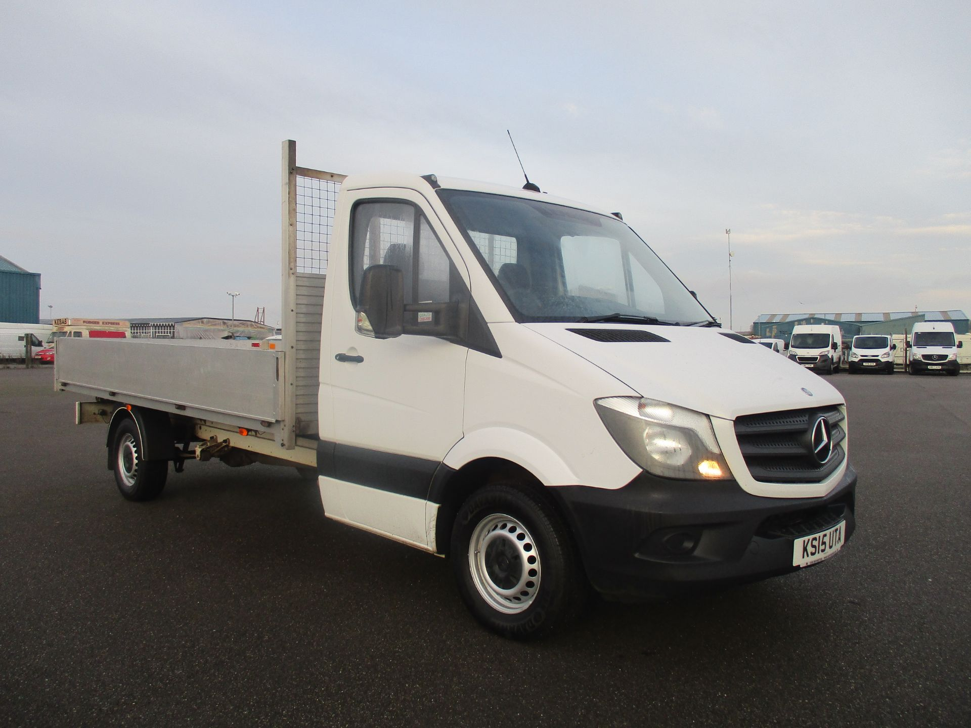 2015 Mercedes-Benz Sprinter 313 LWB DROP SIDE EURO 5 (KS15UTA) Thumbnail 1