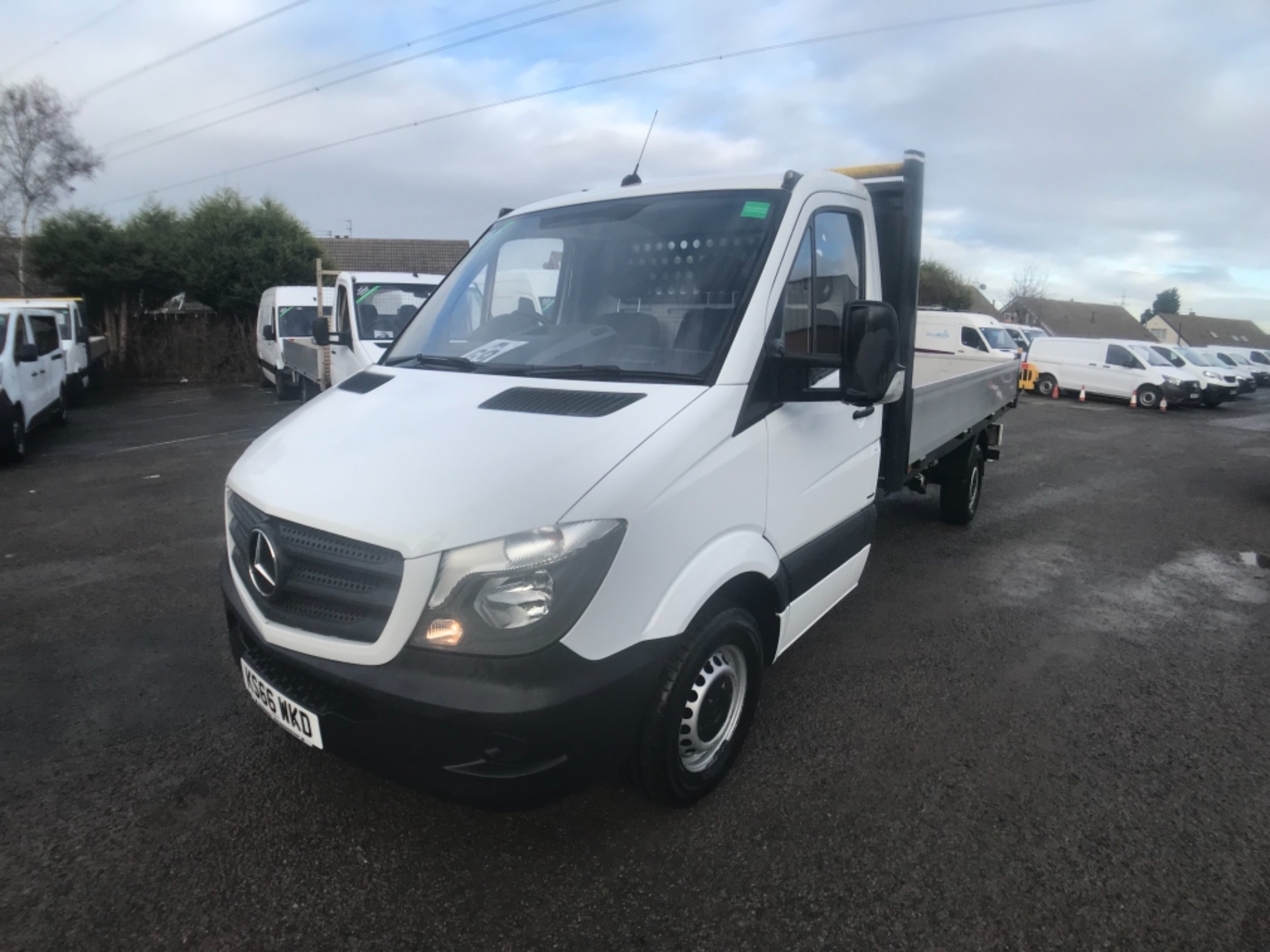 2016 Mercedes-Benz Sprinter 314 CDI LWB Drop side EURO 6 (KS66WKD) Thumbnail 3