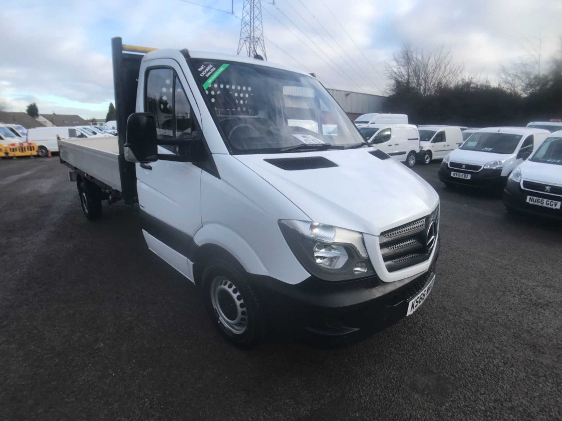 2016 Mercedes-Benz Sprinter 314 CDI LWB Drop side EURO 6 (KS66WKD) Thumbnail 1