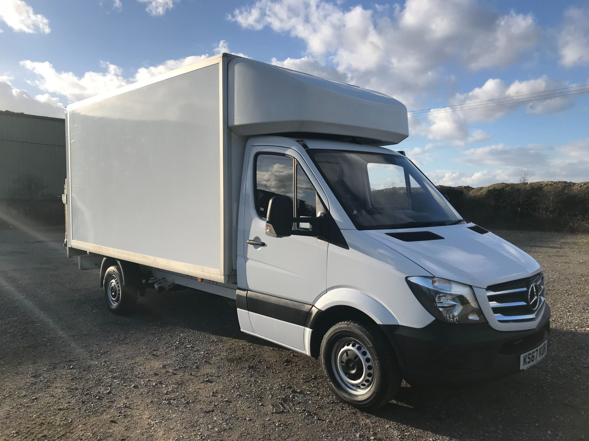 2018 Mercedes-Benz Sprinter 314 LWB LUTON EURO 6 With Tail Lift (KS67KUR) Thumbnail 1