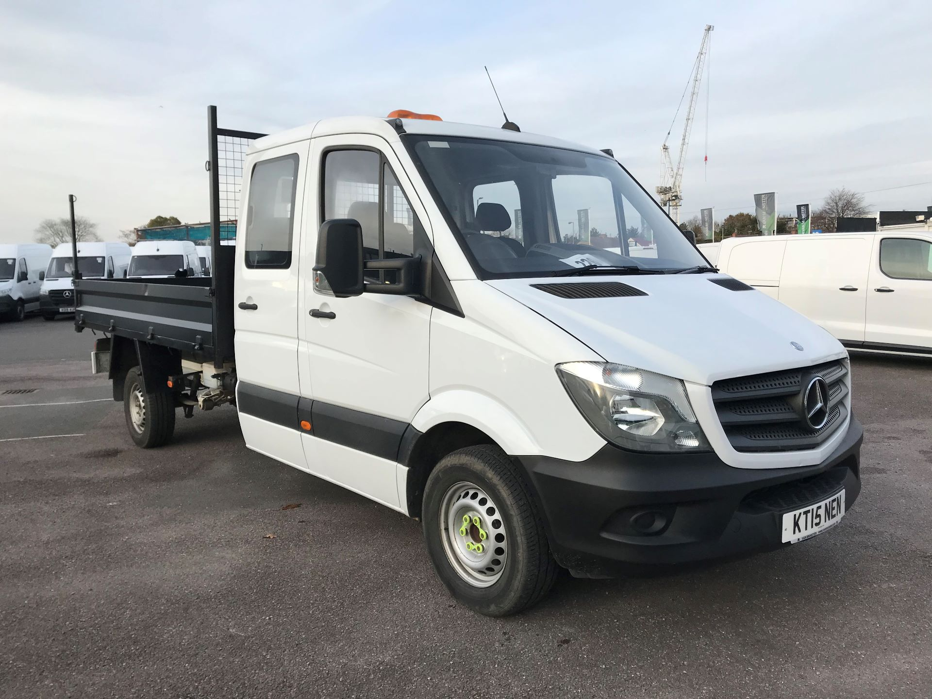 2015 Mercedes-Benz Sprinter  313 LONG CREW CAB TIPPER EURO 5 (KT15NEN)