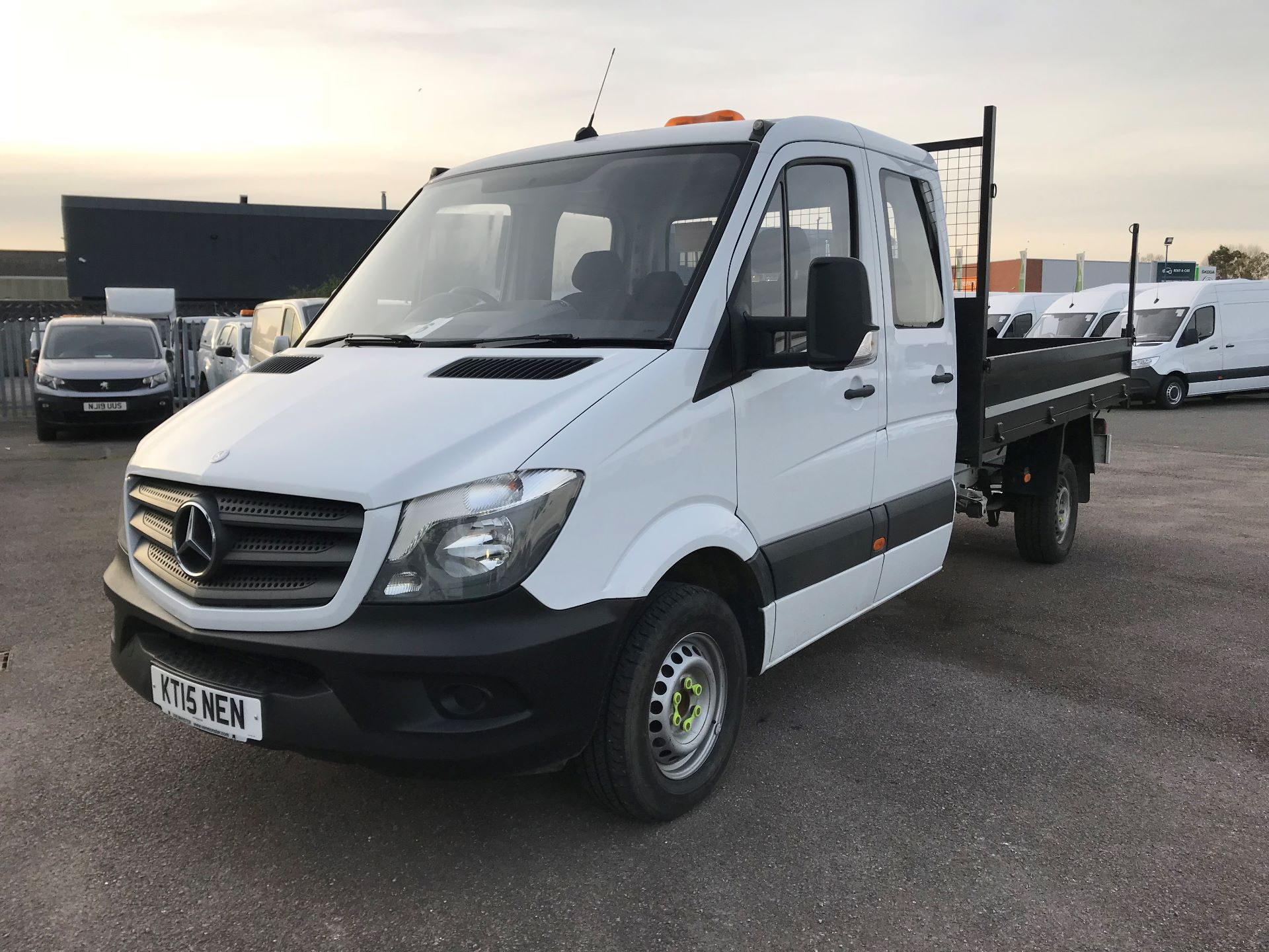 2015 Mercedes-Benz Sprinter  313 LONG CREW CAB TIPPER EURO 5 (KT15NEN) Thumbnail 2