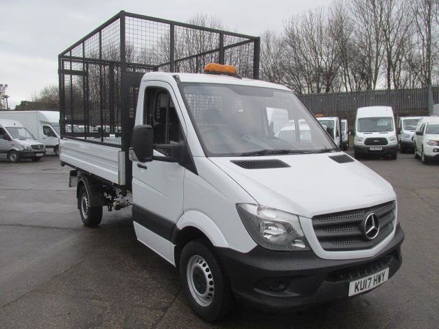 2017 Mercedes-Benz Sprinter 314 CDi MWB S/Cab Tipper with Cage (KU17HWY)