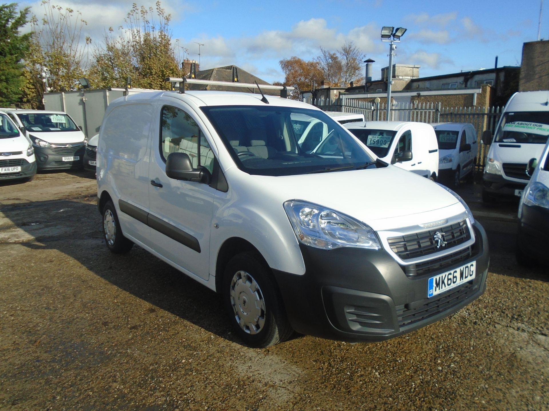 2016 Peugeot Partner 850 1.6 Bluehdi 100 Professional Van [Non Ss] (MK66WDG)