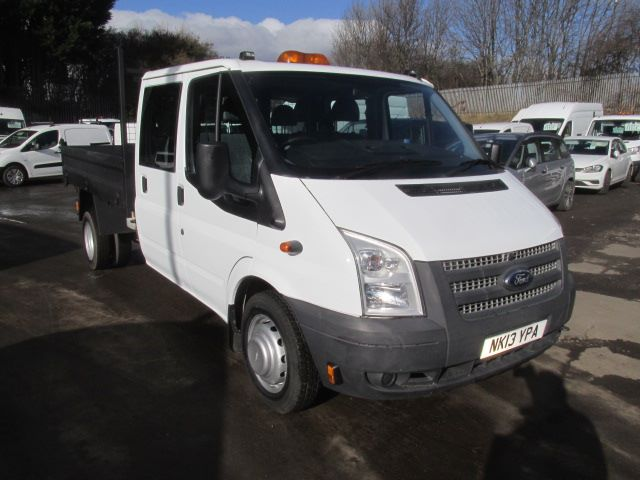 2013 Ford Transit 350 LWB D/Cab Tipper Tdci 100Ps [Drw] Euro 5 (NK13YPA)