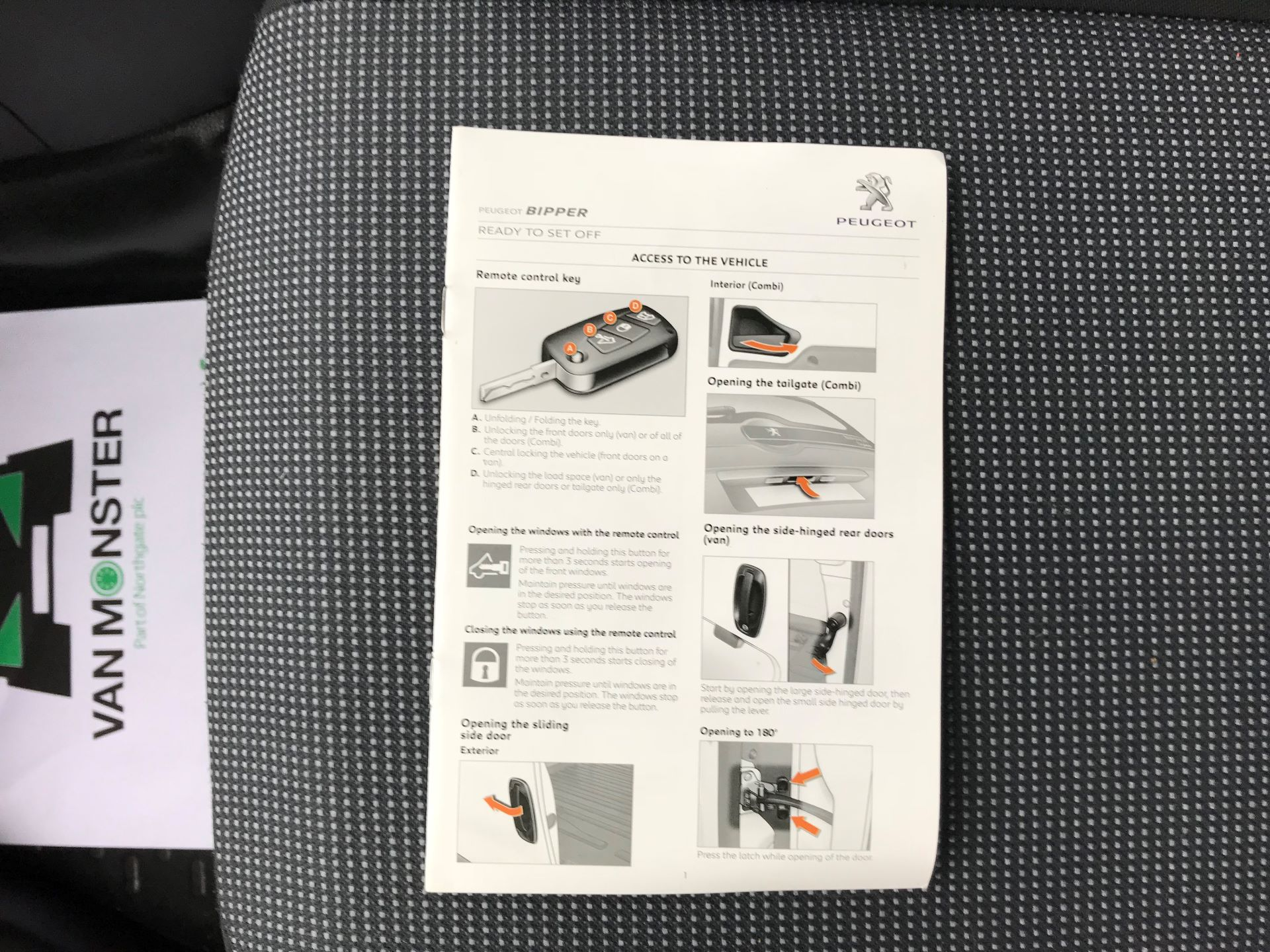 2016 Peugeot Bipper 1.3 HDI 75 S PLUS PACK NON S/S EURO 5 (NU16DLJ) Image 50