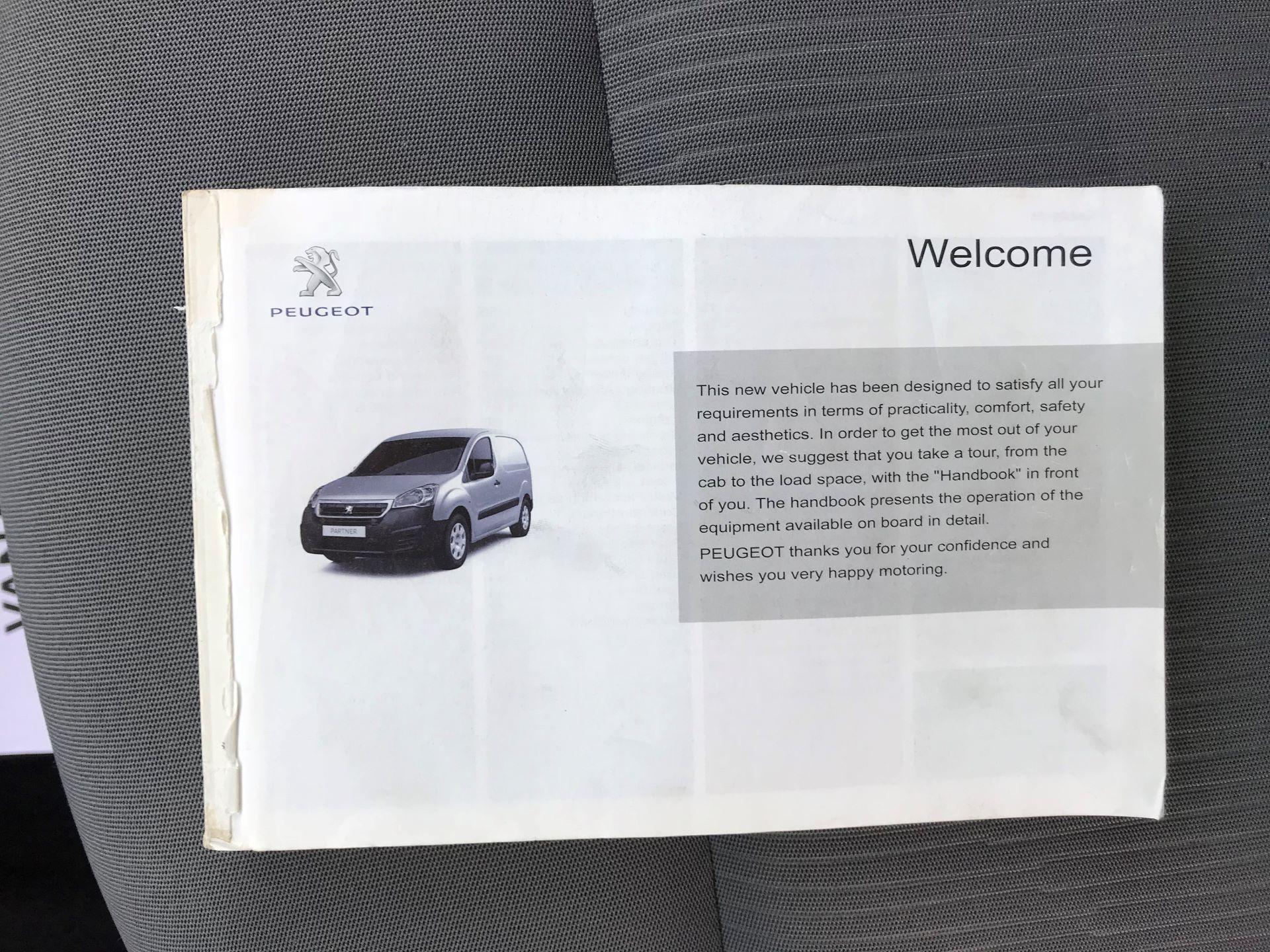 2016 Peugeot Partner  L1 850 SE 1.6 92PS EURO 5 RESTRICTED TO 70MPH (NU16HFP) Image 43