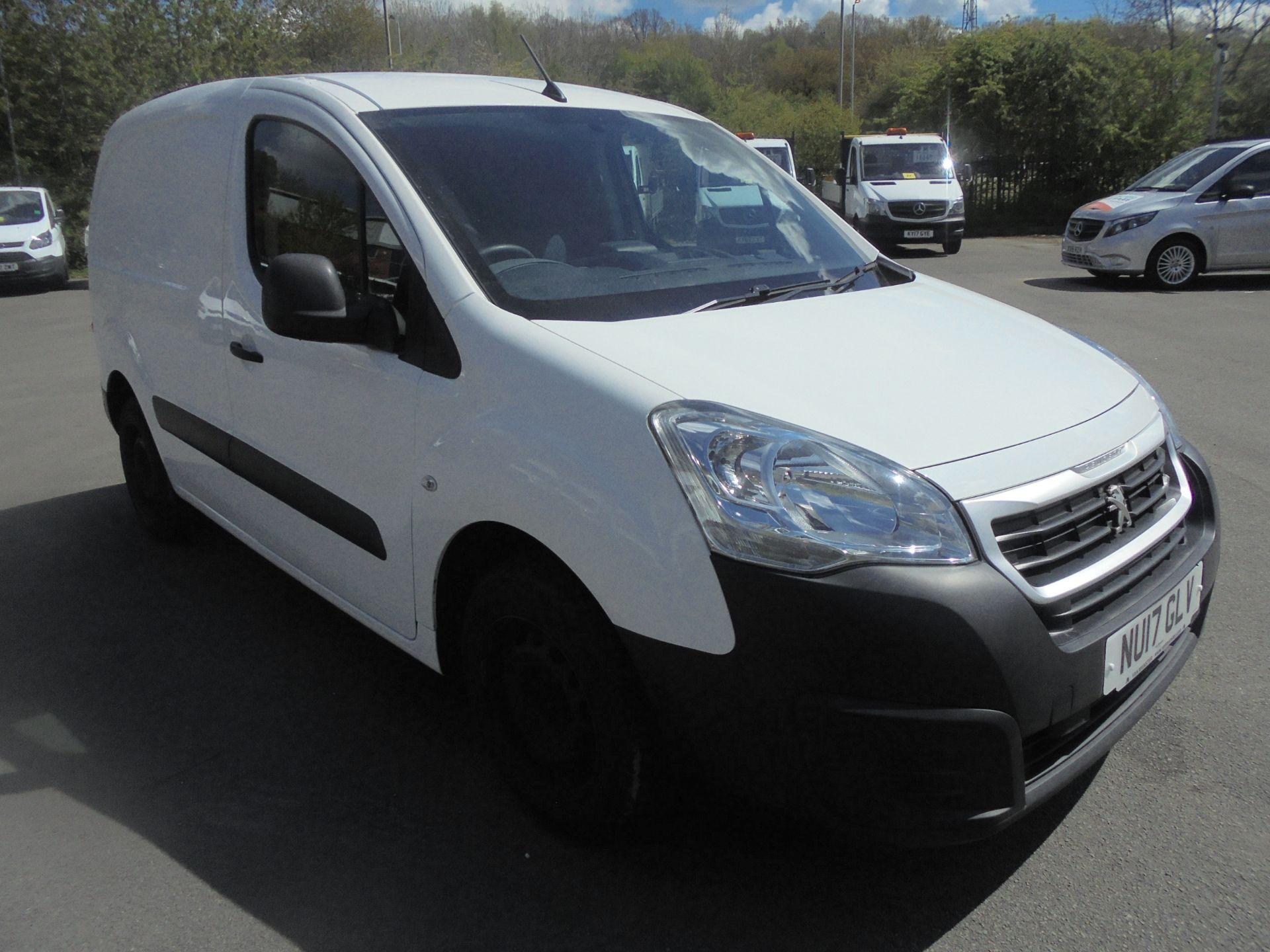 2017 Peugeot Partner 850 1.6 Bluehdi 100 Professional Van [Non Ss] (NU17GLV)