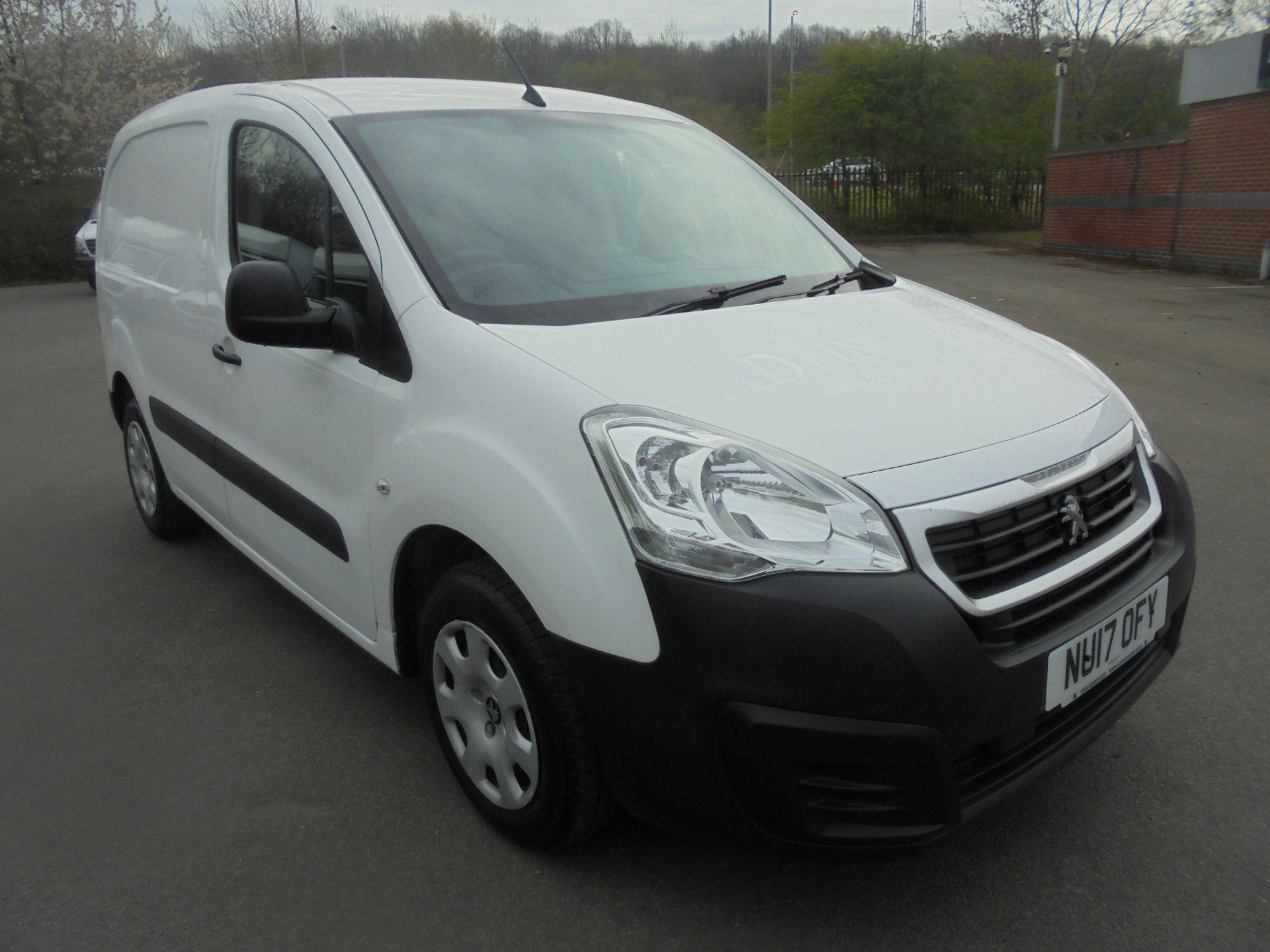 2017 Peugeot Partner 850 1.6 Bluehdi 100 Professional Van [Non Ss] (NU17OFY)