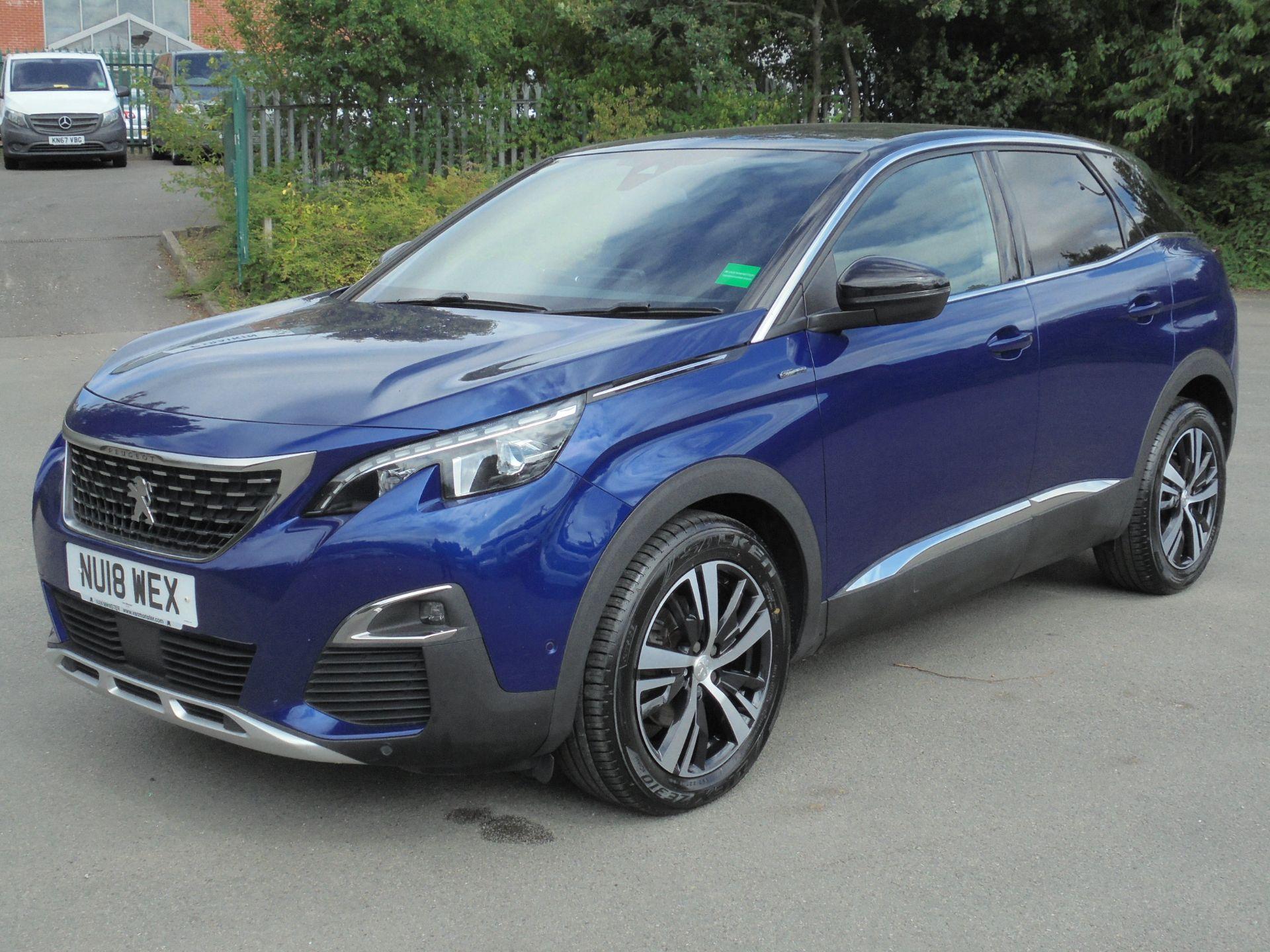 2018 Peugeot 3008 1.6 Bluehdi 120 Gt Line 5Dr (NU18WEX) Image 3
