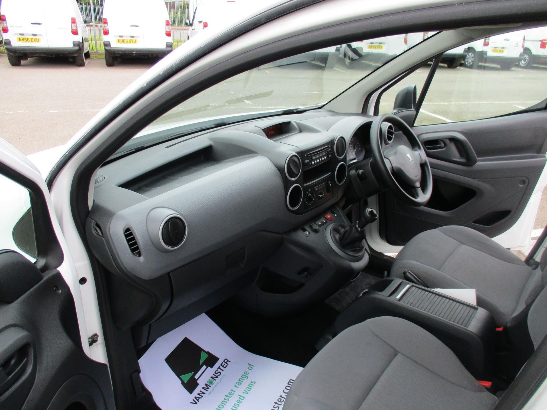 2016 Peugeot Partner 850 S 1.6 Hdi 92 Van [Sld] (NU66UYR) Image 16