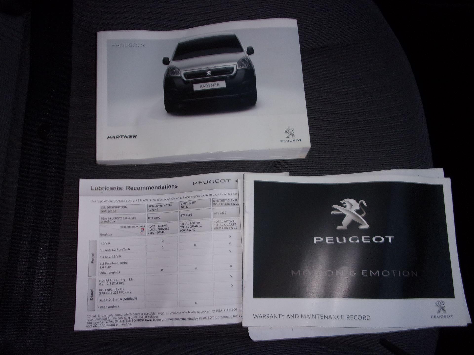 2016 Peugeot Partner L1 850 S 1.6 HDI 92PS (SLD) EURO 5 (NU66VXP) Image 14