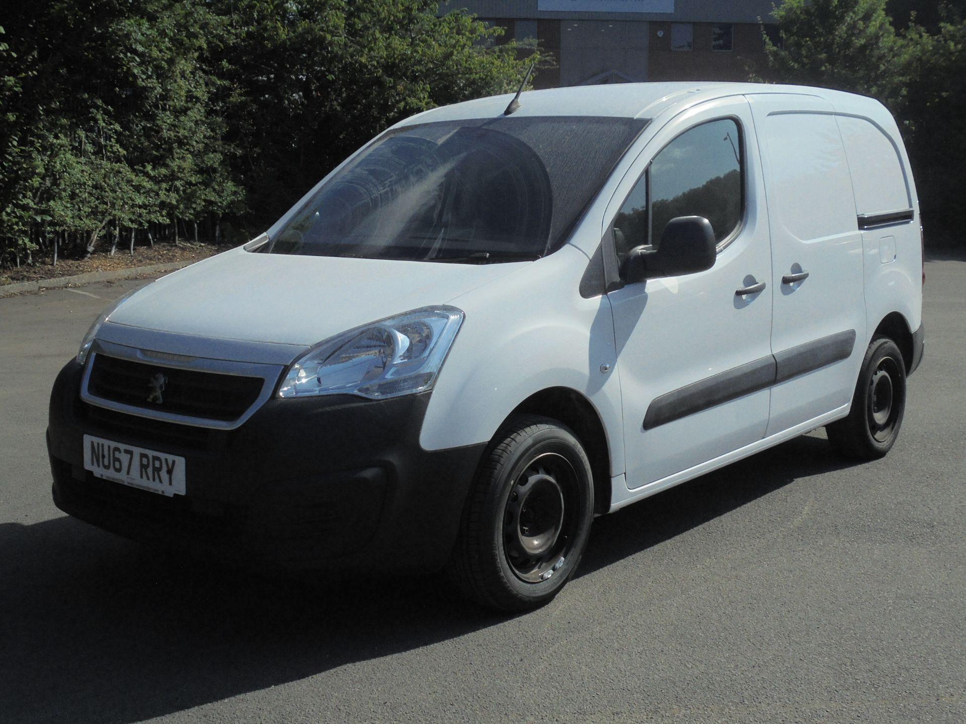2017 Peugeot Partner 850 1.6 Bluehdi 100 Professional Van [Non Ss] (NU67RRY) Image 3
