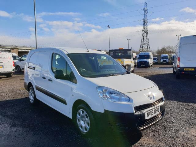 2015 Peugeot Partner L2 716 1.6 92 CREW VAN EURO 5 *SPEED RESTRICTOR FITTED SET AT 70MPH* (NV15WFU)