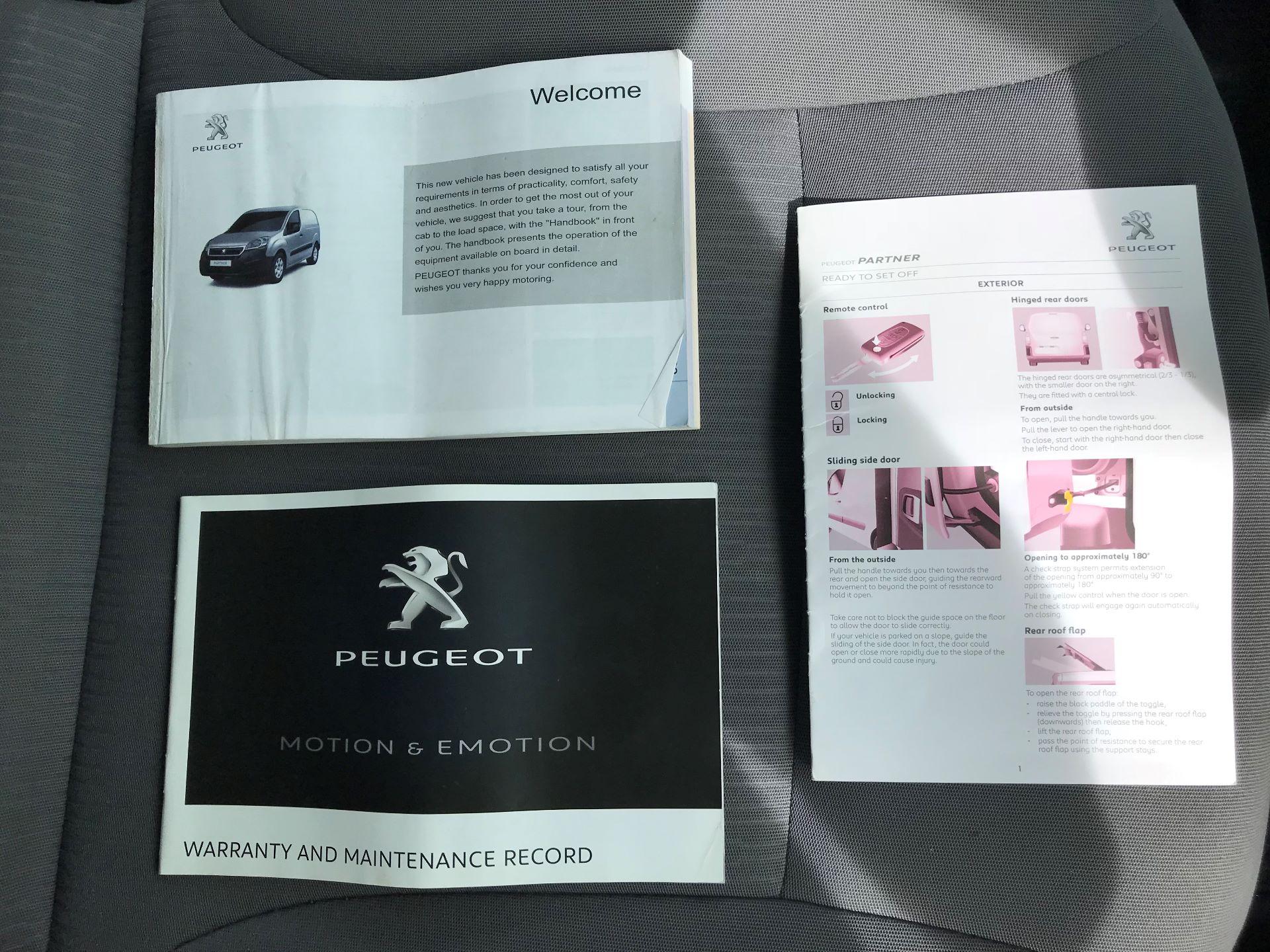 2016 Peugeot Partner L1 850 S 1.6 92PS [SLD] EURO 5 (NV16FNA) Image 28