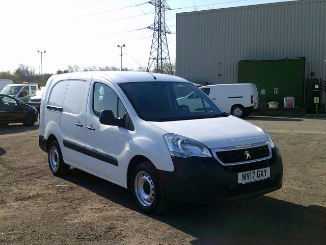 2017 Peugeot Partner L2 715 S 1.6 BLUEHDI 100 CREW VAN EURO 6 * SPEED RESTRICTED TO 70 MPH * (NV17GXY)