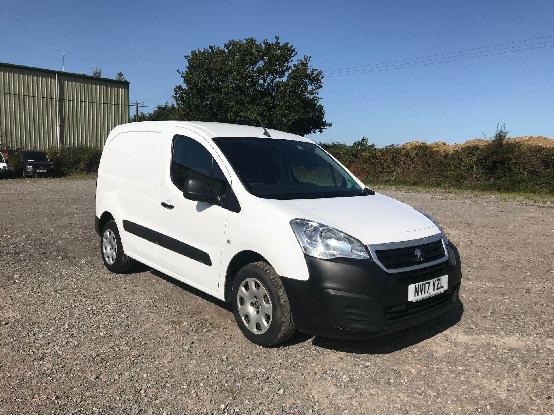 2017 Peugeot Partner 850 1.6 Bluehdi 100 Professional Van [Non Ss] (NV17YZL)