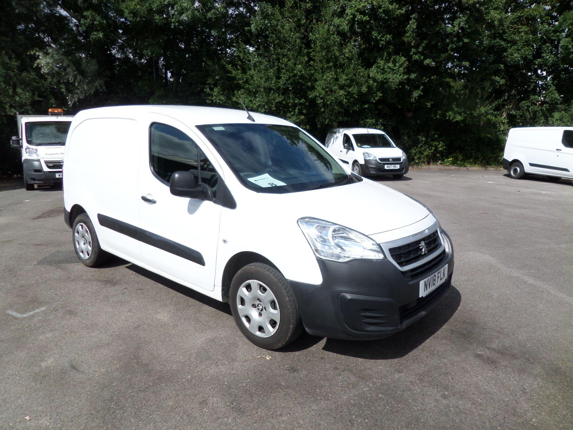 2018 Peugeot Partner 850 1.6 Bluehdi 100 Professional Van [Non Ss] Euro 6 (NV18FLK)