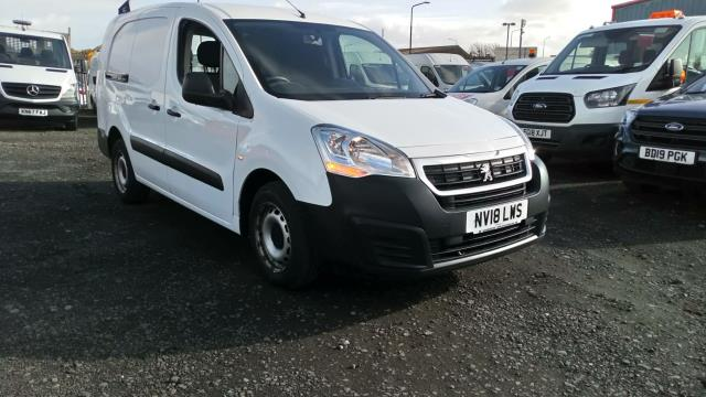2018 Peugeot Partner 715 S 1.6 Bluehdi 100 Crew Van (speed limited to 67phm) (NV18LWS)