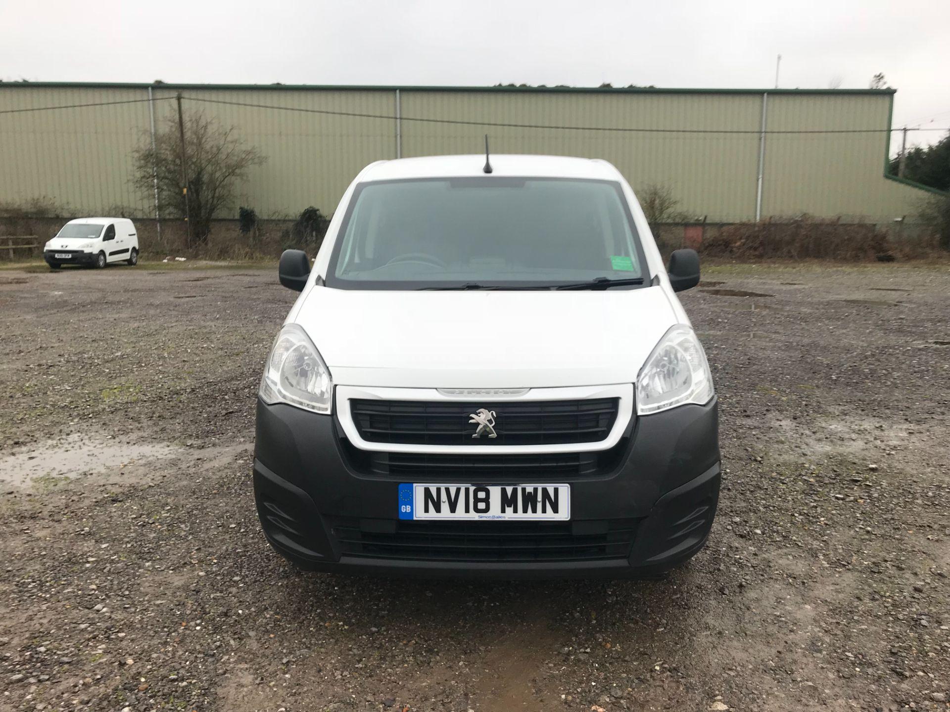 2018 Peugeot Partner 850 1.6 Bluehdi 100 Professional Van [Non Ss] EURO 6 (NV18MWN) Image 2