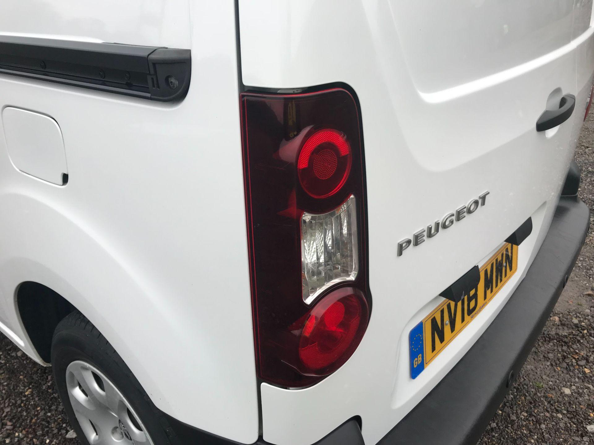 2018 Peugeot Partner 850 1.6 Bluehdi 100 Professional Van [Non Ss] EURO 6 (NV18MWN) Image 40