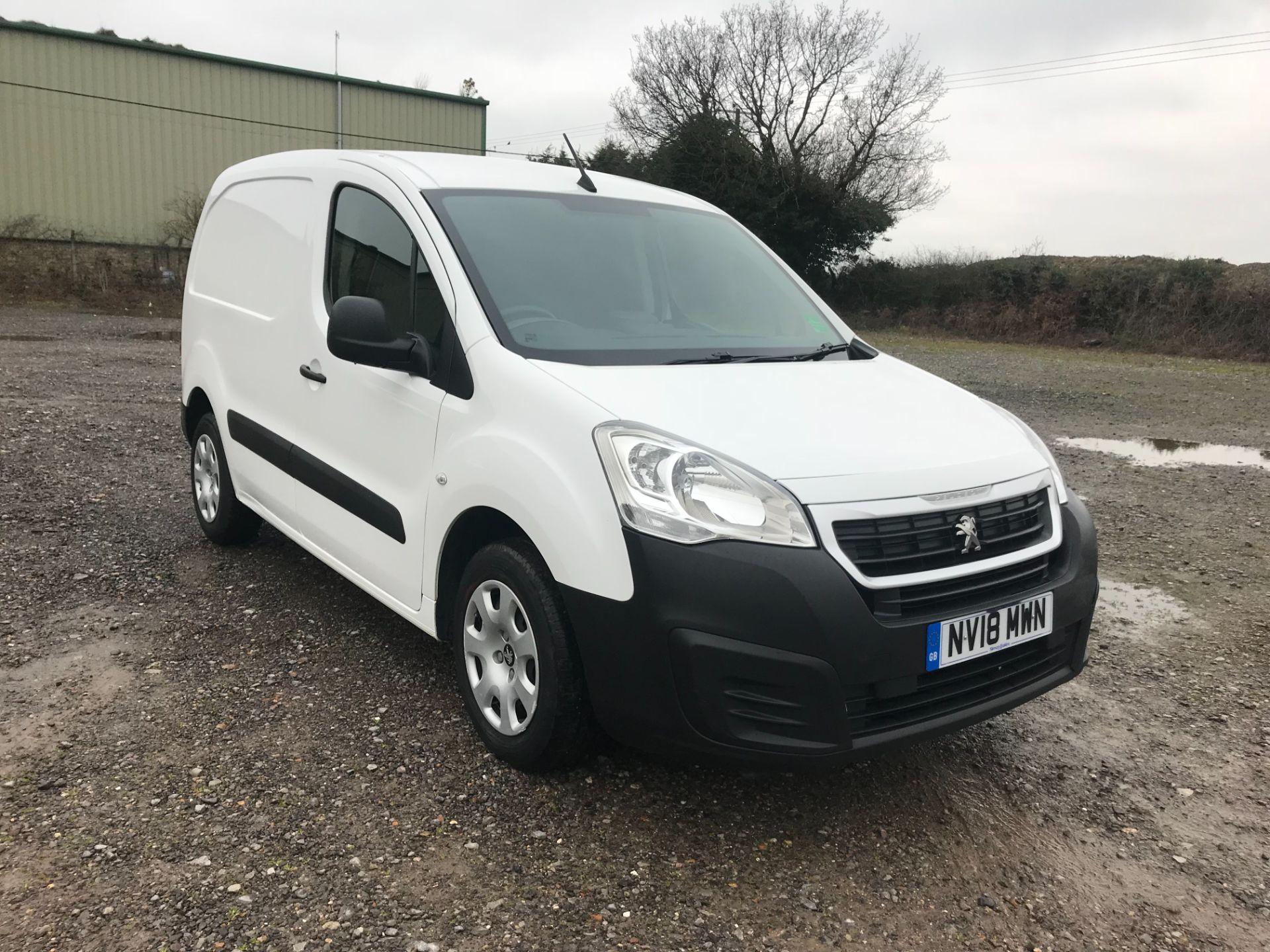 2018 Peugeot Partner 850 1.6 Bluehdi 100 Professional Van [Non Ss] EURO 6 (NV18MWN)