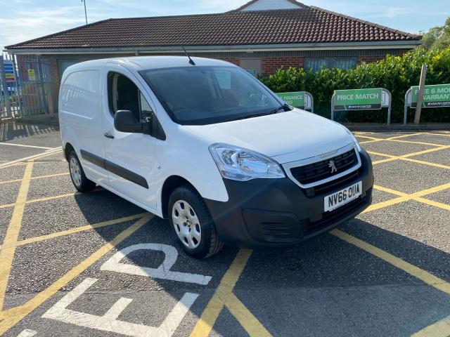 2016 Peugeot Partner 850 1.6 Bluehdi 100 Professional Van [Non Ss] Vehicle limited To 56mph (NV66OUA) Image 1